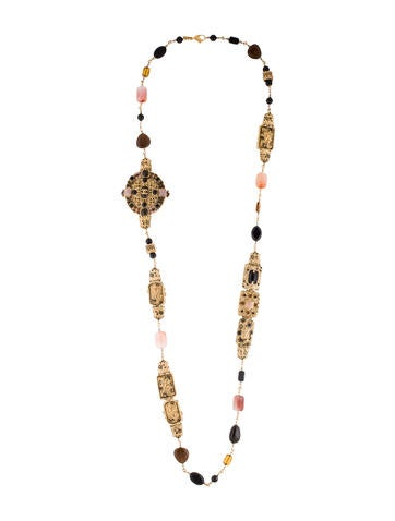 Chanel Ornate Agate and Bead Necklace