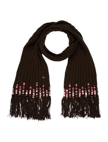 Chanel Sequin-Embellished Scarf None