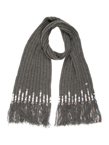 Chanel Sequined Knit Scarf None
