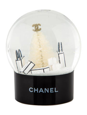 Chanel Holiday Snow Globe Decor And Accessories