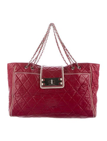 Chanel Large Mademoiselle East West Tote None