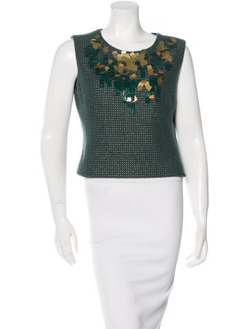 Chanel Wool Embellished Top None