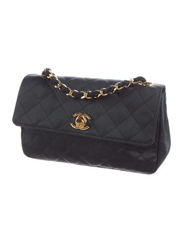 Satin Mini Flap Bag
