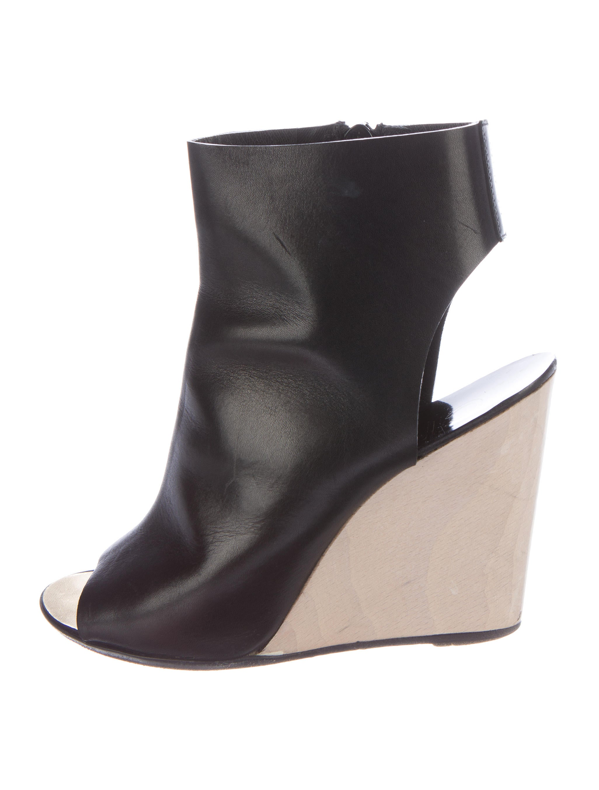 chanel open toe wedge ankle boots shoes cha134472
