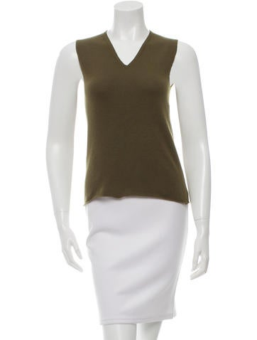 Chanel Cashmere V-Neck Top None