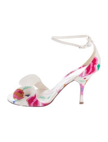 Chanel Floral Canvas Sandals