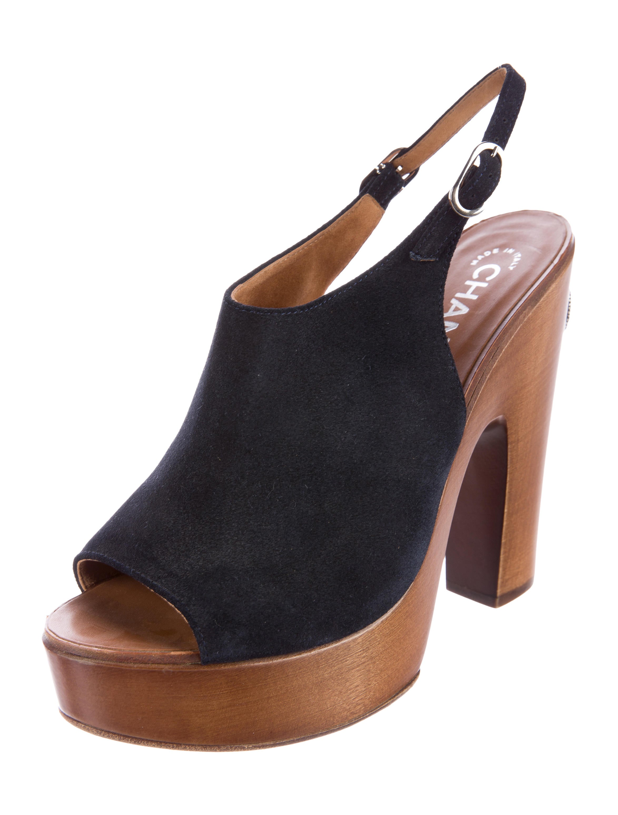 chanel suede platform sandals shoes cha134974 the