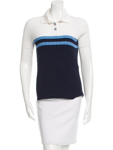 Chanel Colorblock Knit Top None
