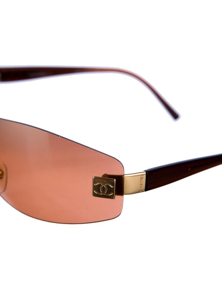 Frameless Sunglasses Lelong : Chanel Frameless Sunglasses CHA13503 The RealReal