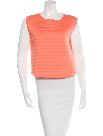 Chanel Quilted Sleeveless Top None