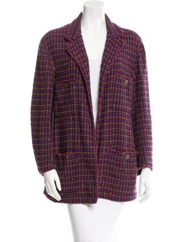 Chanel Tweed Open Front Jacket