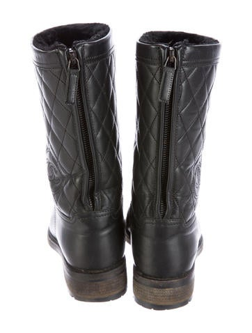 chanel quilted leather boots shoes cha136890 the