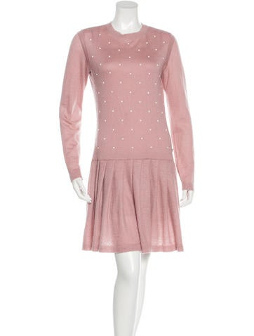 Chanel Embellished Mohair Dress