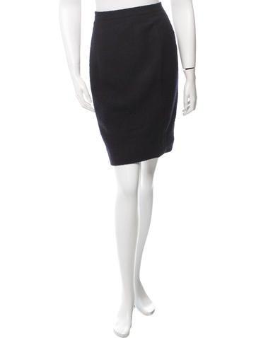 Chanel Wool Bouclé Skirt None