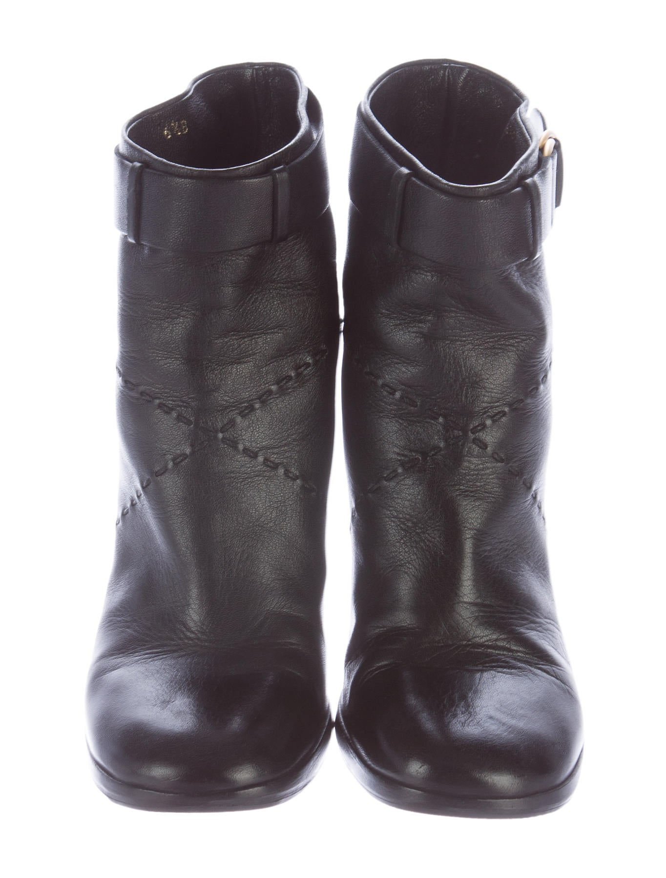 chanel toe ankle boots shoes cha137002 the