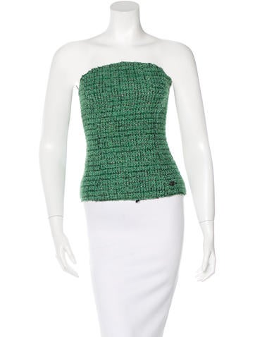Chanel Wool Bouclé Top None