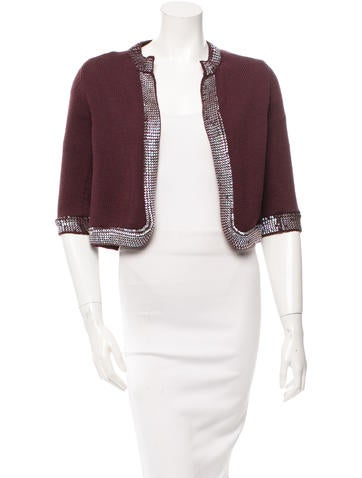 Chanel Wool Sequined Cardigan None