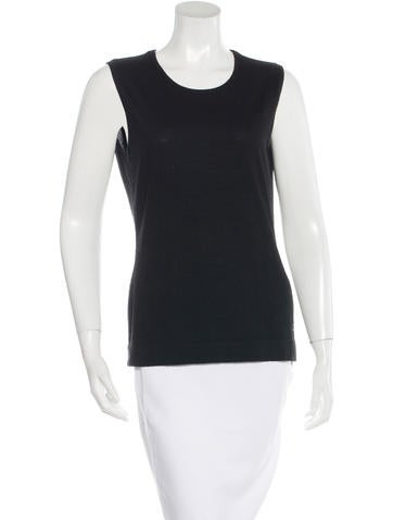 Chanel Embroidered Sleeveless Top None
