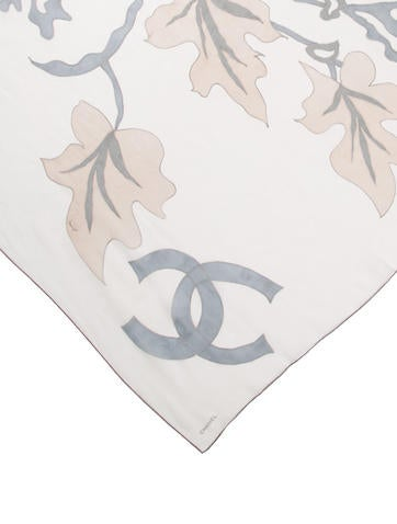 CC Floral Silk Scarf