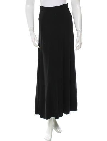 Chanel Wool Maxi Skirt None