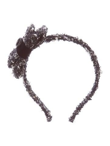 Bow Tweed Headband
