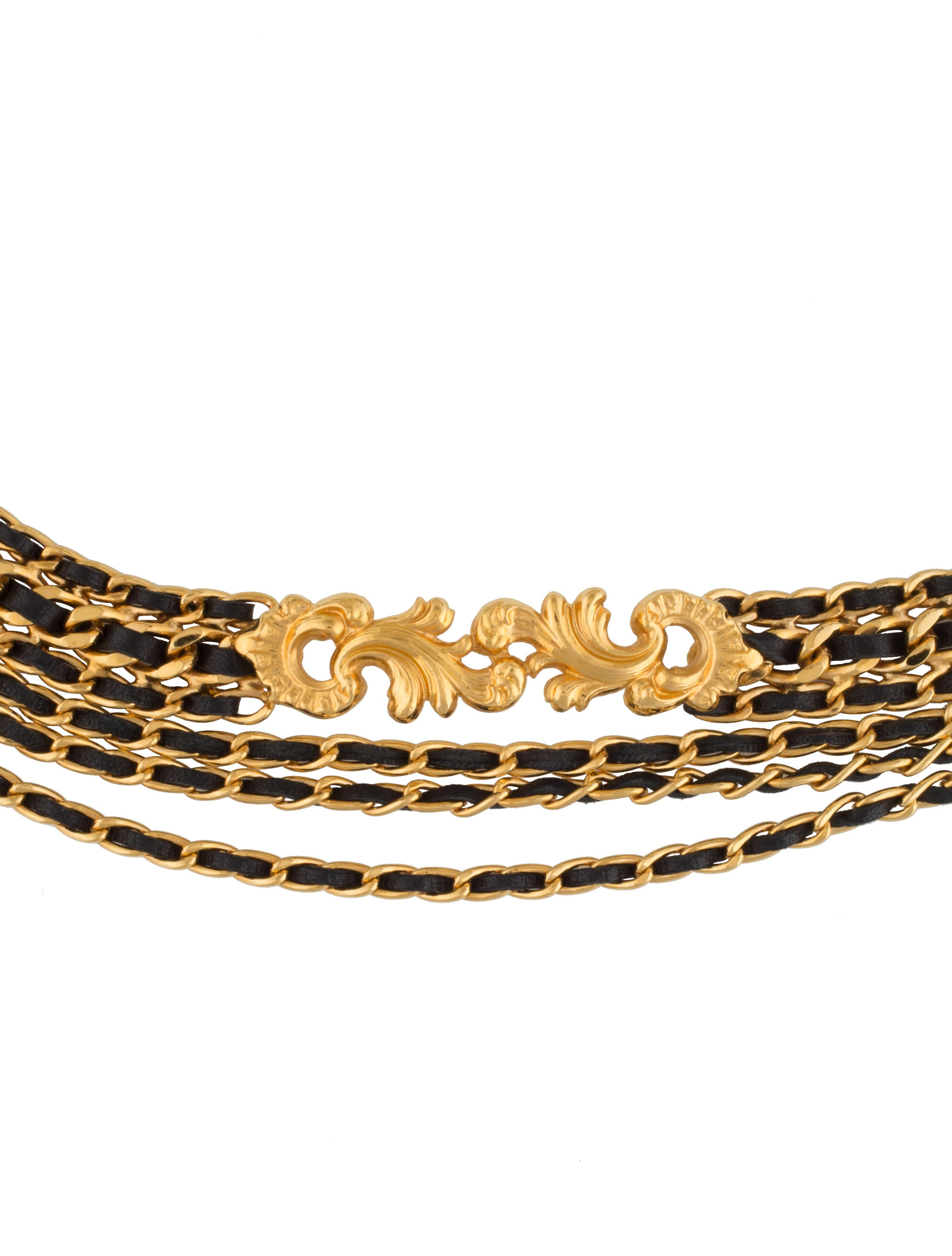 chanel leather chain belt accessories cha137896 the