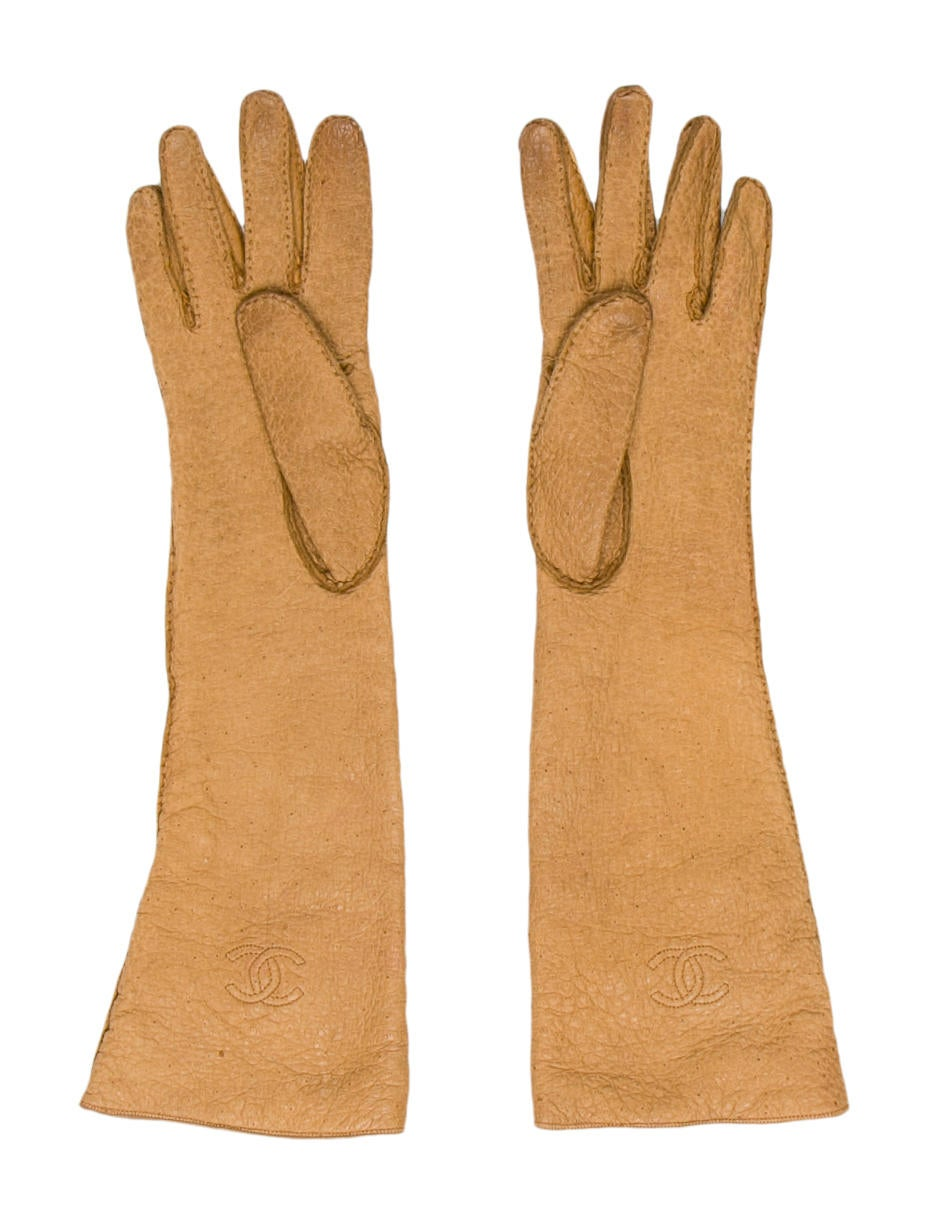 Chanel Leather CC Gloves - Accessories - CHA137902 | The ...