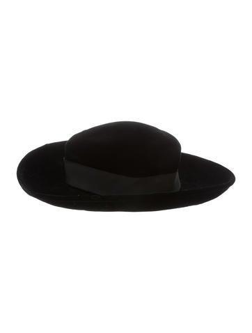 Velvet Wide Brim Hat