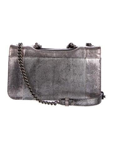 Lizard Perfect Edge Flap Bag