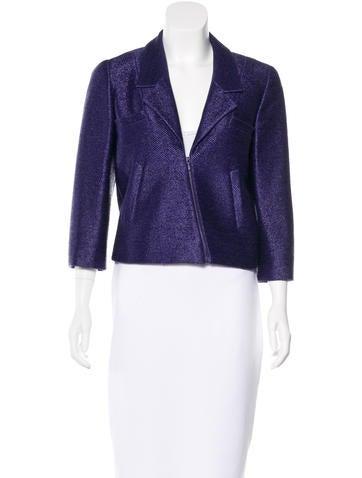 Chanel Metallic Woven Jacket