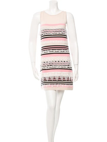 Chanel Stripe Cashmere Dress None