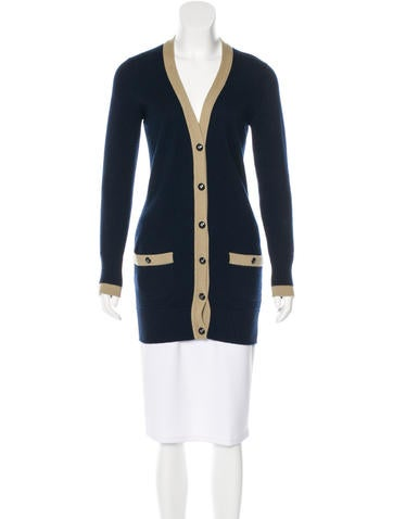 Chanel Long Cashmere Cardigan None