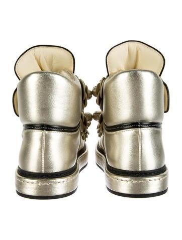 Embellished Metallic Sneakers