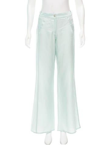 Chanel Satin Wide-Leg Pants w/ Tags
