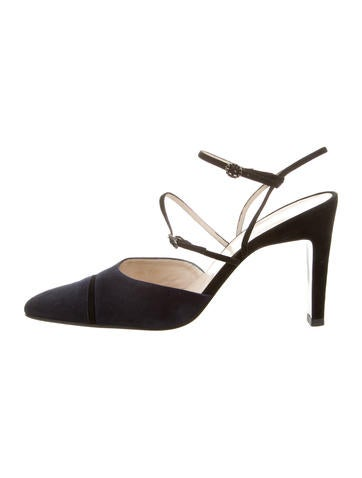 Chanel Multistrap Pointed-Toe Pumps None
