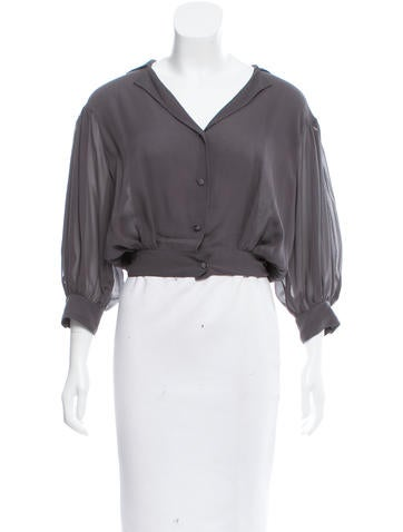 Chanel Silk Cropped Top None