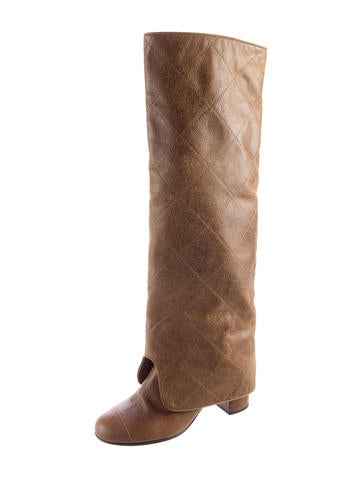 Quilted Fold-Over Boots