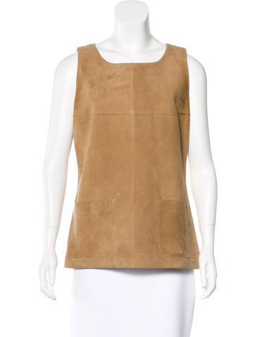 Chanel Suede Tank Top None