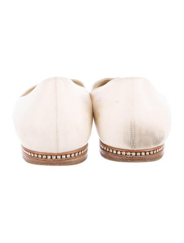 Embellished Cap-Toe Flats