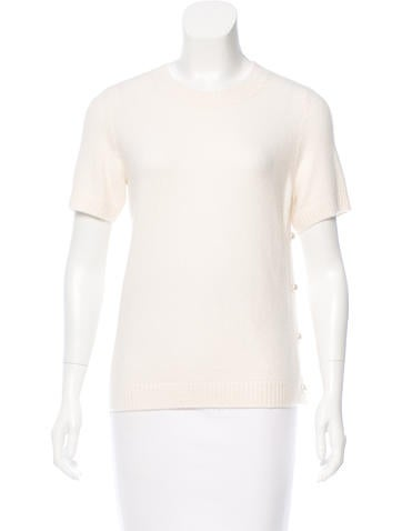 Chanel Cashmere-Blend Knit Top w/ Tags None