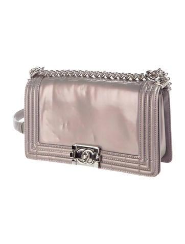 Glazed Calfskin Medium Boy Flap Bag