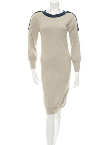 Chanel Cashmere Midi Dress None