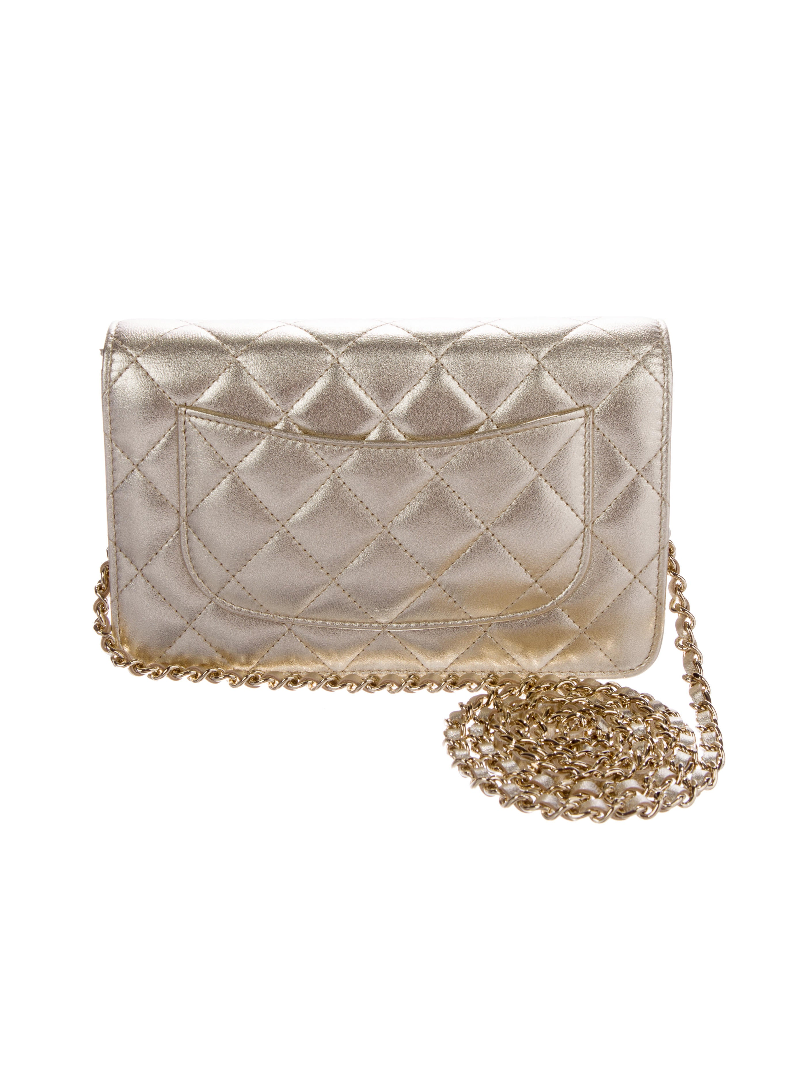 9cd1fe3ebea8 Chanel 2017 Lambskin Quilted Wallet on Chain - Handbags .