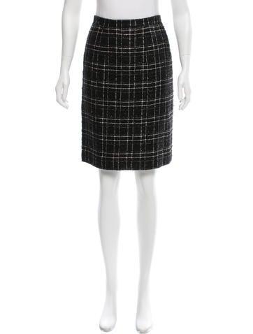 Metallic Tweed Skirt