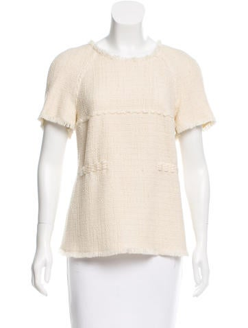 Chanel Wool Tweed Top w/ Tags None