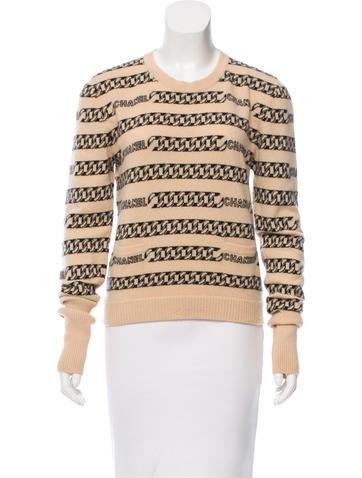 Chanel Cashmere Logo-Intarsia Sweater None