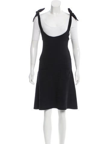 Chanel Sleeveless Patterned Dress