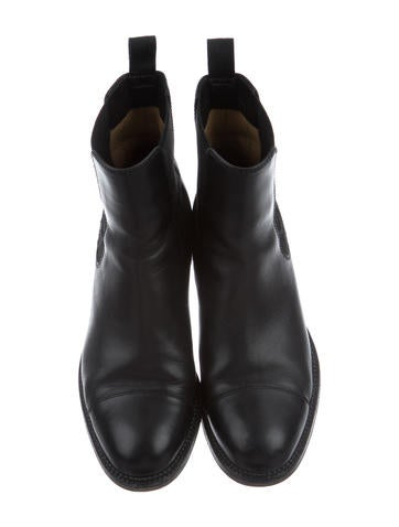 Leather CC Ankle Boots