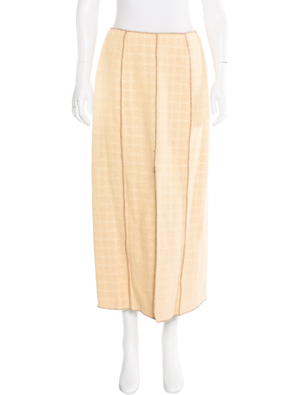 chanel tweed midi skirt clothing cha139863 the realreal