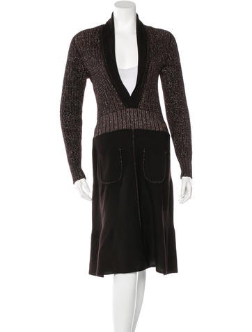 Chanel Metallic Knit Dress None